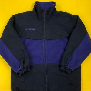 Women's Columbia Blue/Purple Fleece Jacket Small